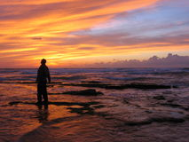Sorprendido por la puesta del sol II Imagen de archivo libre de regalías