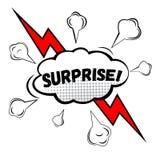 ¡SORPRESA! Burbuja cómica del discurso, historieta Imagen de archivo libre de regalías