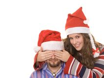 Sorpresa de Christmass fotografía de archivo