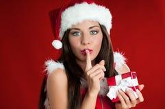 Sorpresa de la Navidad Foto de archivo
