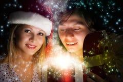 Sorpresa de la Navidad Fotos de archivo libres de regalías