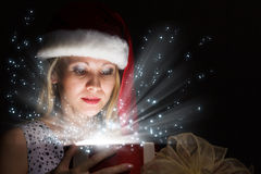 Sorpresa de la Navidad Fotos de archivo