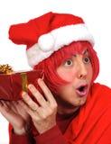 Sorpresa de la Navidad Fotografía de archivo libre de regalías