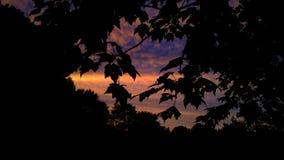 Sorpresa de la puesta del sol Imagenes de archivo
