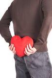 Sorpresa dei biglietti di S. Valentino Fotografie Stock Libere da Diritti