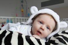 Sorpresa del bebé Fotografía de archivo