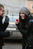 Sorpresa del biglietto di S. Valentino Fotografie Stock Libere da Diritti