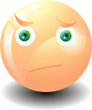Sorpresa del emoticon que hace muecas Imagen de archivo libre de regalías