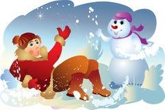 Sorpresa del invierno Foto de archivo libre de regalías