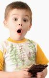 Sorpresa del muchacho Foto de archivo