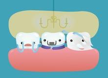 Sorpresa del truco o de la invitación del concepto dental Fotos de archivo
