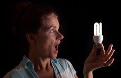 Sorpresa della lampadina Immagine Stock Libera da Diritti