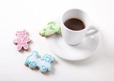Sorpresa dolce per caffè Fotografia Stock