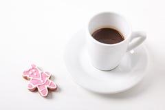 Sorpresa dolce per caffè Fotografie Stock Libere da Diritti