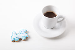 Sorpresa dulce - café Imágenes de archivo libres de regalías