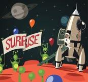 Sorpresa en el espacio Imagen de archivo libre de regalías