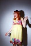 Sorpresa - muchacha muy sorprendida Imagen de archivo libre de regalías