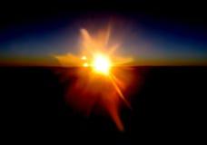 Sorpresa v1 di tramonto Fotografia Stock