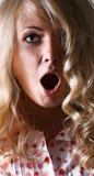 Sorpresa y miedo Imagen de archivo libre de regalías