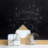Sorpresas de la Feliz Navidad Foto de archivo libre de regalías