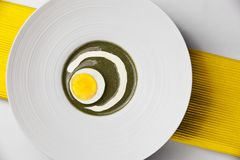 Sorrel dish with boiled egg Stock Photography