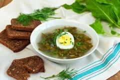 Sorrel soup Royalty Free Stock Photos
