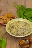 Sorrel soup. With greens. Selective focus Stock Photo