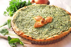Free Sorrel Tart With Goat Cheese Royalty Free Stock Photography - 31044037
