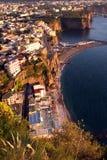 Sorrentine半岛海岸意大利 图库摄影