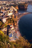 Sorrentine-Halbinsel Küste Italien Stockfotografie
