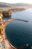 Sorrentine peninsula Coast Italy. Sorrentine Peninsula in Southern Italy in the Bay of Naples stock photography