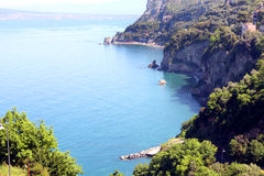 Sorrentine peninsula Italy. Coast view in the Sorrentine Peninsula in the bay of Naples in South Italy royalty free stock photo