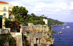 Sorrento. Coastline scenic view of part of Sorrento Royalty Free Stock Photos