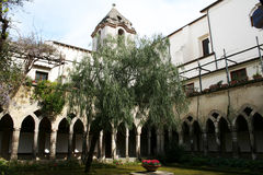 Sorrento. The old cloister of san francesco at sorrento in italy Stock Photo