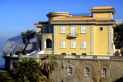 Sorrento. Prestigious house on the sea in the sorrento coast Royalty Free Stock Photography