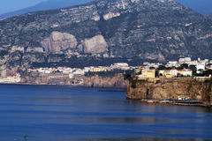 Sorrento. The landscpae of the coast of sorrento in italy Stock Images