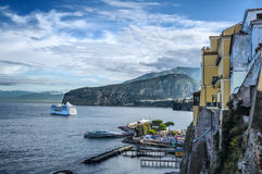 Sorrento. Is a small town in Campania, southern Italy, with some 16,500 inhabitants. The Amalfi Drive (connecting  and Amalfi) is a narrow road that threads royalty free stock images