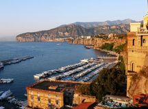 Sorrento. Beautiful sea landscape of Sorrento Stock Image