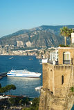 Sorrento. View of the coastline of Sorrento. Italy royalty free stock image