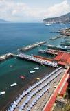 Sorrento, Amalfi Coast, Italy. Sorrento's  beach view, Amalfi Coast, Italy Royalty Free Stock Photos