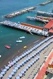 Sorrento, Amalfi Coast, Italy. Sorrento's  beach view, Amalfi Coast, Italy Royalty Free Stock Image
