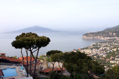 Sorrento Amalfi coast Italy. View of Sorrento in the Amalfi coast in the gulf of Naples in Italy stock photo