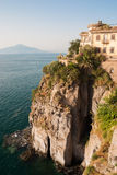 Sorrento, Amalfi Coast, Mount Vesuvius, Campania, Italy. In 1997, the Amalfi Coast was listed as a UNESCO World Heritage Site as a cultural landscape Royalty Free Stock Images