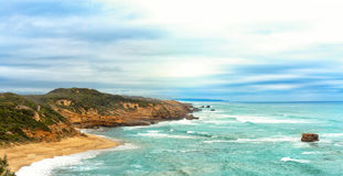 Sorrento back beach. A panoramic photo of Sorrento back beach, Mornington Peninsula, Australia Stock Images
