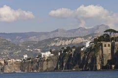 Sorrento Bay. Sorrento, Italy - March 17th, 2006 : scenic view of Sorrento Bay and harbor, Italy royalty free stock photo