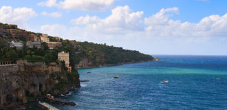 Sorrento Bay, Italy. Sunny Coast of Sorrento, Italy Royalty Free Stock Photography