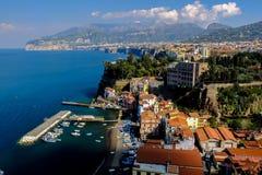 Sorrento. The bustling town of Sorrento on Italy's Amalfi coast Royalty Free Stock Image