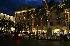 Sorrento christmas. The beautiful decorations of sorrento in christmas time Stock Image
