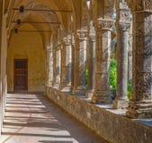 Sorrento, claustro de la iglesia de St Francis Imagen de archivo libre de regalías