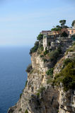 Sorrento cliffs. View of sorrento old house on a cliff Royalty Free Stock Photos